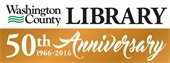 Washington County Library's 50th anniversary banner