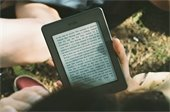 Person reading from an e-reader