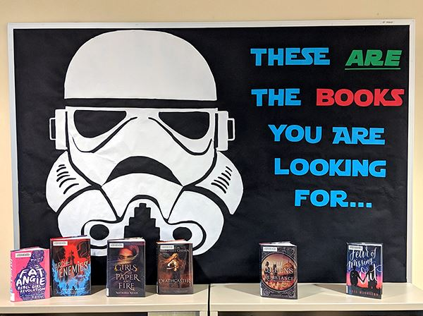 stormtrooper book display