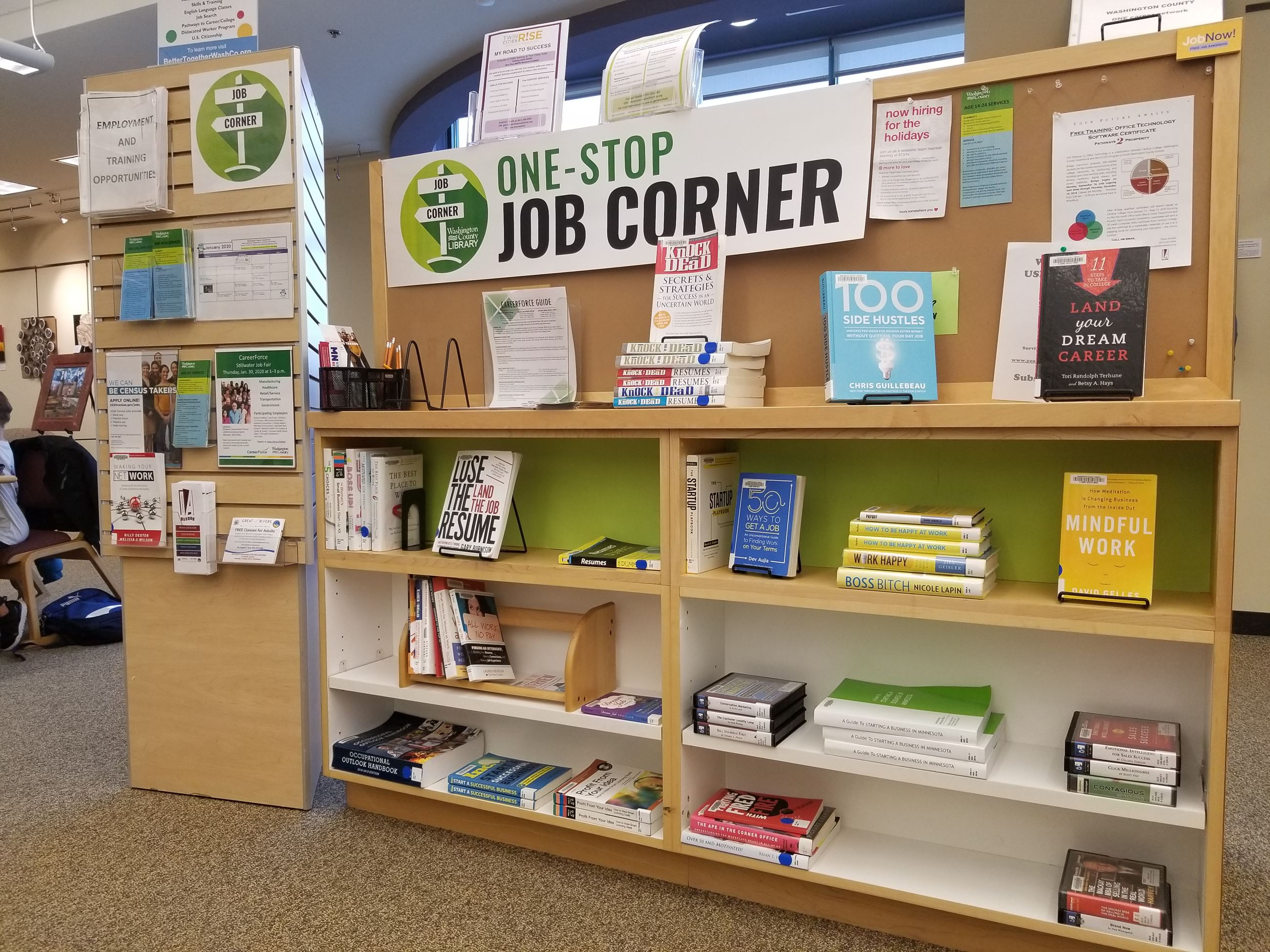Career corner at R. H. Stafford Library