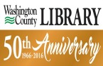 Washington County Library 50th Anniversary logo